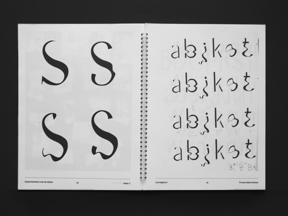 Worn typedesign study and proces